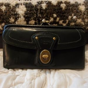 Coach kisslock large wallet